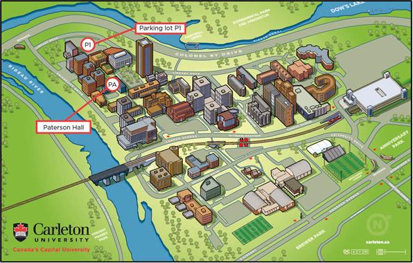 Carleton University Map Bachelor of Humanities Specialty Tour Map   Undergraduate  Carleton University Map