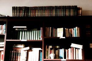 Bookshelf in Humanities Lounge