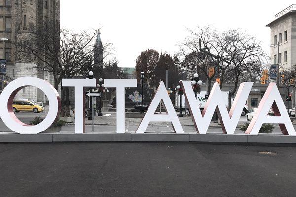 Ottawa sign in the Byward Market