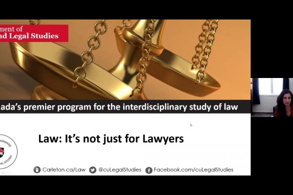 Watch Video: CU at Home Webinar Series: Department of Law and Legal Studies