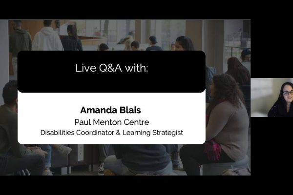 Watch Video: Live at Five: Student Support and the Paul Menton Centre