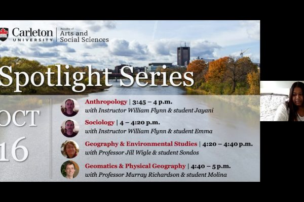 Watch Video: Program Spotlight: Anthropology, Sociology, Geography, Environmental Studies, Geomatics, Physical Geography