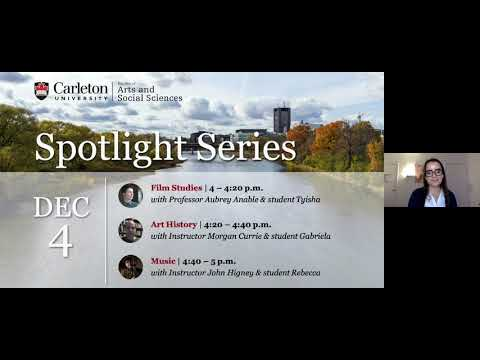 Watch Video: Program Spotlight: Art History, Film Studies, Music