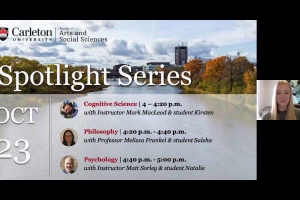 Watch Video: Program Spotlight: Cognitive Science, Philosophy, Psychology