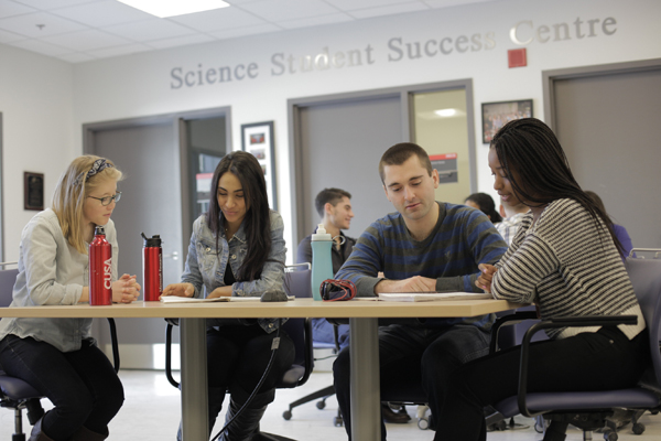 Students in the Science Student Success Centre (SSSC).